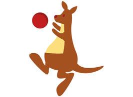 Tiere: Kangaroo, Fuchs, Schmetterling, Elefant, Löwe, Pinguin, Äffchen