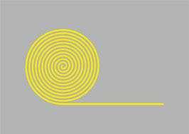 Thermoplastische Dauermarkierung - Gelbe Rollen