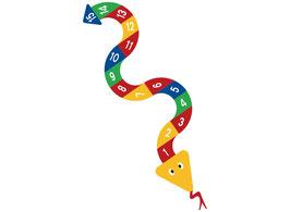 Zahlen-Schlangen und -Raupen
