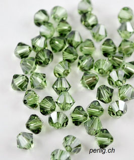 Bicone 5mm Peridot Satin