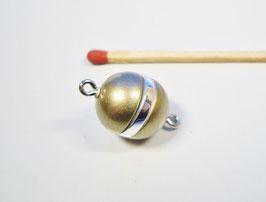 Magnetverschluss Kugel Matt oliv ring silber