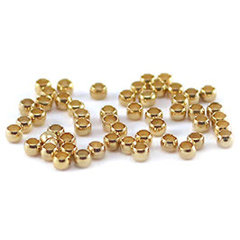 Quetschperlen 2mm goldplated