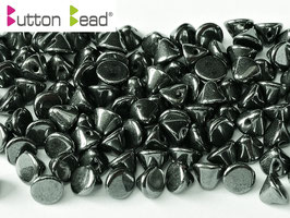 Button Bead  Jet Hematite