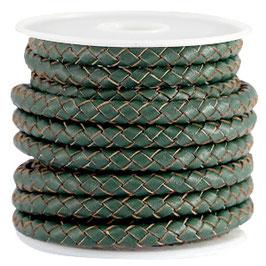 Leder geflochten Pine green