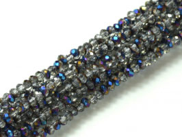 Cut Beads 1mm Crystal Blue Flare