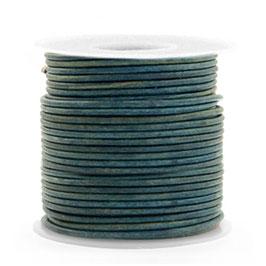 Vintage Legion Blue Rindrundleder