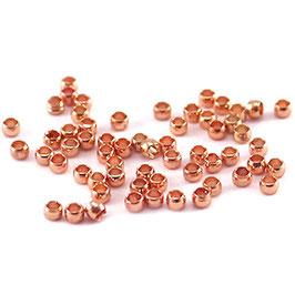 Quetschperlen 2mm rosegoldplated