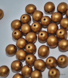 Matted dark Gold 4 mm