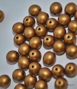 Matted dark Gold 4 mm
