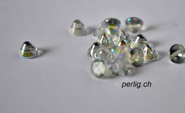 Button Bead   Crystal Blue Rainbow