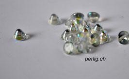 Button Bead   Crystal Blue Rainbow