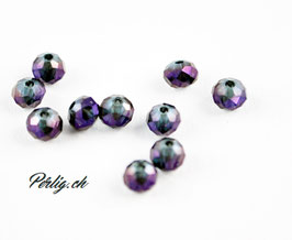 Facettenperlen crystal violett transp.