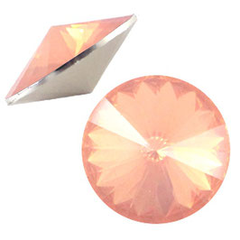 1122 Rivoli 12mm Crystal Peach Opal