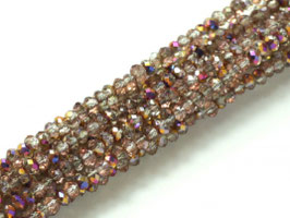 Cut Beads 1mm Crystal Sliperit