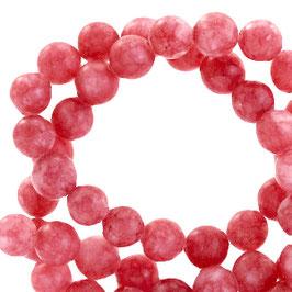 Jade matt Coral red 6mm