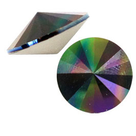 1122 Rivoli 12mm Crystal Rainbow Dark