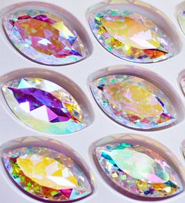 Navette 32x17mm Crystal AB