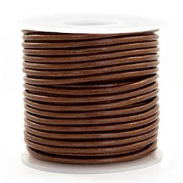 Pecan Brown metallic Rindleder