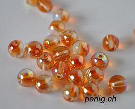 Crystal Orange Rainbow 4 mm