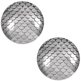Mermaid Metallic silver 12mm