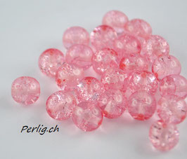 Crystal Crackled Pink 8 mm