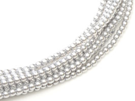 8mm Platinum  Glass Pearl