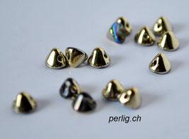 Button Bead   Crystal Golden Rainbow