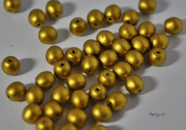 Matted Aztec  Gold 4 mm