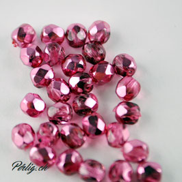 Pink  Metallic Ice 4 mm
