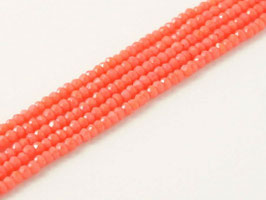 Cut Beads 1mm Light Red Coral