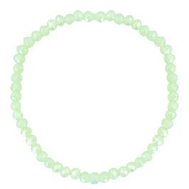 Facettglas Armband Green Pearl Shine