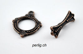 Knebelverschluss gepunkteter Ring