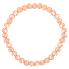 Facettglas Armband lt Peach Orange Pearl Shine