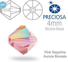 Pink Sapphire AB 4mm