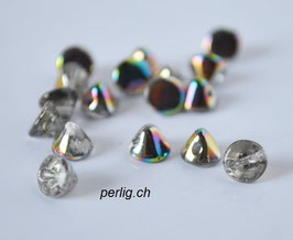 Button Bead   Crystal Vitrail