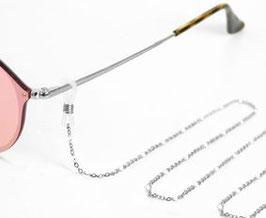 Brillenkette Stainless Steel mit weissen Perlen