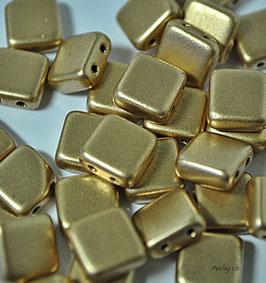 Matte gold   8x8 mm