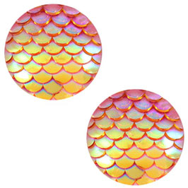 Mermaid Orange Yellow Holographic 12mm
