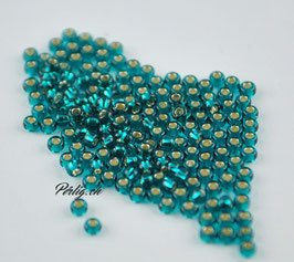 Silver lined Transp. Dark Teal 030