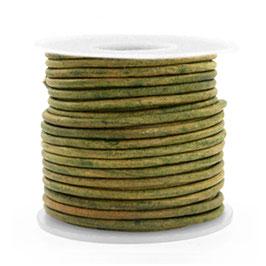 Vintage moss green Rindleder