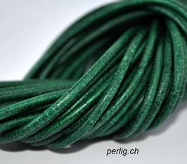 Lederband Grün