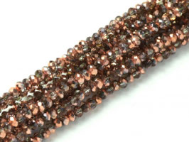 Cut Beads 1mm Crystal Capri gold