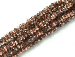 Cut Beads 1mm Crystal Capri gold