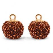 Pompon Anhänger 12mm Copper Gold