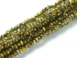 Cut Beads 1mm Crystal Amber
