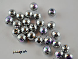 Crystal Glittery Silver 4 mm