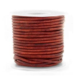 Lederband Burgundy red
