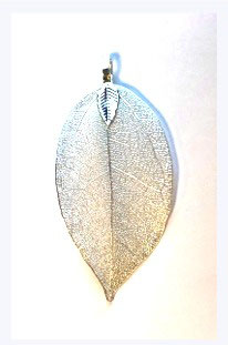 Blatt Natural Leaf Silbern