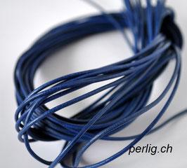 Lederband königsblau