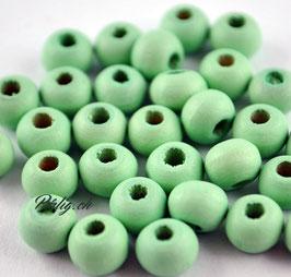 Holzperle hellgrün  6 mm